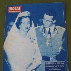 Coleccionismo de Revista Hola: HOLA - NUMERO 879 - 1 AL 7 JULIO 1961. BALDUINO Y FABIOLA.. Lote 45175922