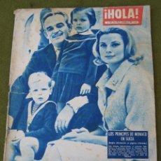 Coleccionismo de Revista Hola: HOLA - NUMERO 847 - 19 AL 25 DE NOVIEMBRE DE 1960. PRINCIPES DE MONACO.. Lote 45176037