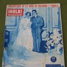 Coleccionismo de Revista Hola: HOLA - Nº 852 - 24 AL 30 DE DICIEMBRE DE 1960. BALDUINO Y FABIOLA.. Lote 45207518