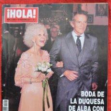 Coleccionismo de Revista Hola: HOLA - Nº 3506 - OCT 2011 - BODA DE LA DUQUESA DE ALBA . Lote 45421010