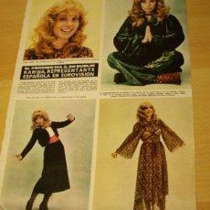 Coleccionismo de Revista Hola: ARTICULO RECORTE KARINA HOLA 27 MARZO 1971. Lote 45440162
