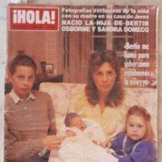 Coleccionismo de Revista Hola: CONDESA DE ROMANONES-IRA DE FÜRSTENBERG-JOSE MANUEL SOTO-AKIHITO-BERTIN OSBORNE Y SANDRA DOMECQ-ESPA. Lote 45526033