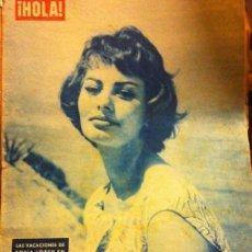 Coleccionismo de Revista Hola: REVISTA HOLA, Nº 735, SEPTIEMBRE 1958, SOPHIA LOREN. Lote 45737930