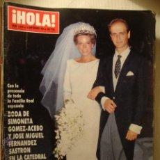 Coleccionismo de Revista Hola: LA50 HOLA Nº 2406 AÑO 1990. BODA DE SIMONETA GOMEZ-ACEBO Y JOSE MIGUEL FERNANDEZ. KIM BASINGER.. Lote 46873278
