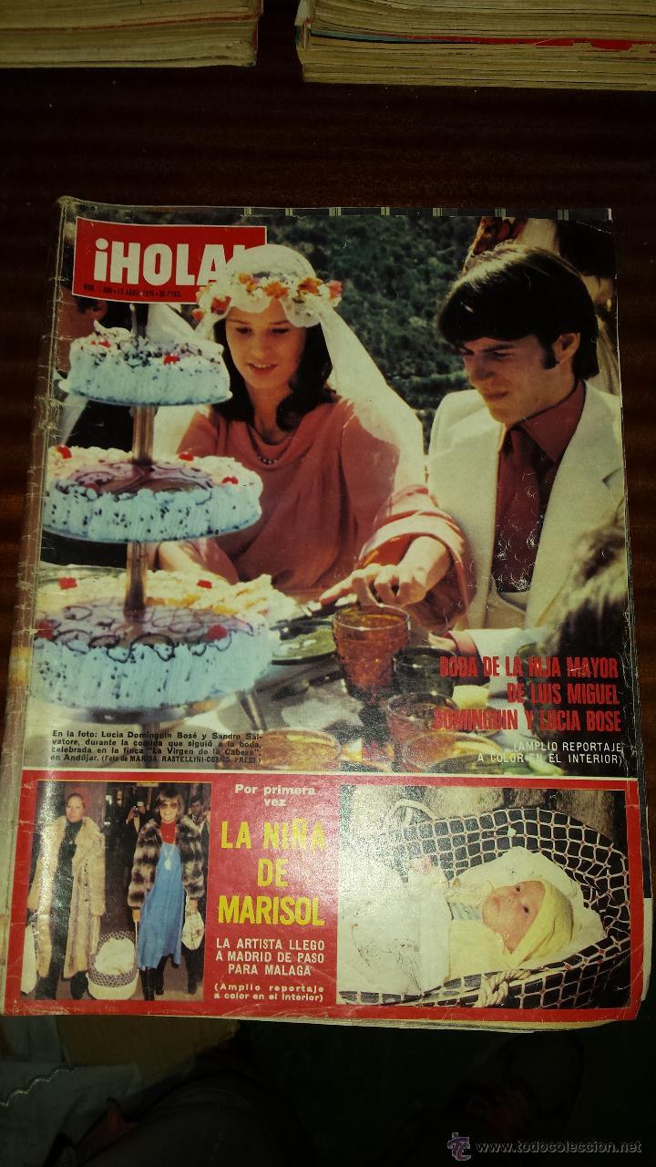 Coleccionismo de Revista Hola: Lote 114 revistas HOLA años 60, 70 y 3 de principios de los 80 - Ver detalles se venden sueltas 5€ - Foto 2 - 117723528
