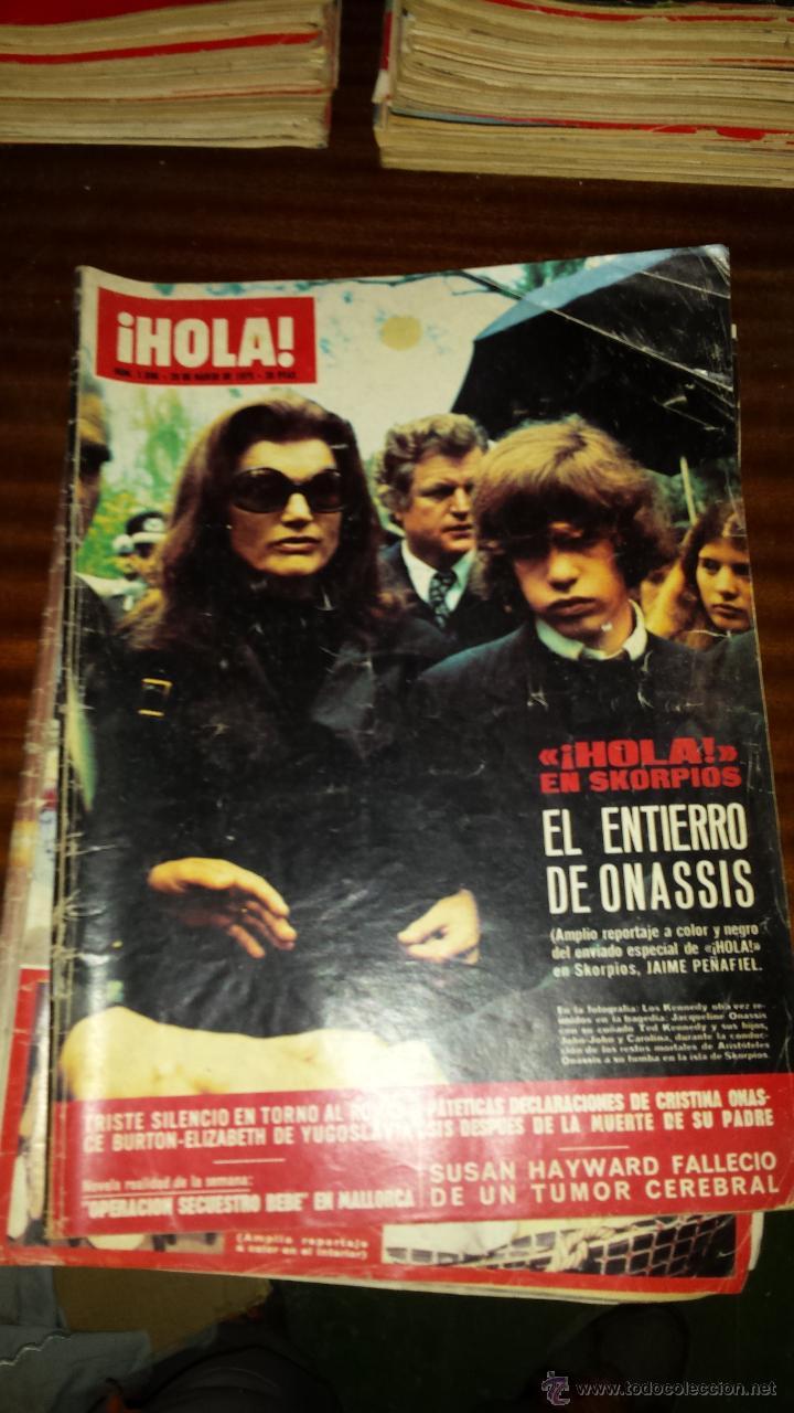 Coleccionismo de Revista Hola: Lote 114 revistas HOLA años 60, 70 y 3 de principios de los 80 - Ver detalles se venden sueltas 5€ - Foto 3 - 117723528