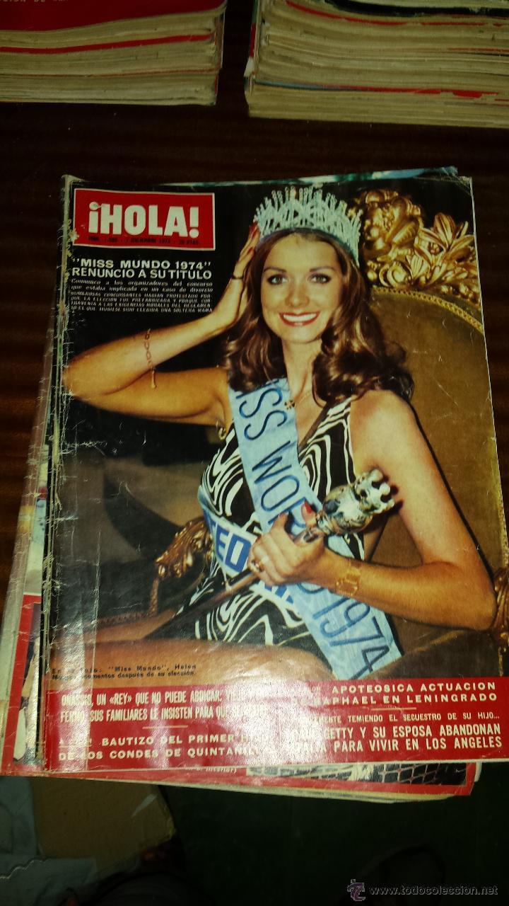 Coleccionismo de Revista Hola: Lote 114 revistas HOLA años 60, 70 y 3 de principios de los 80 - Ver detalles se venden sueltas 5€ - Foto 4 - 117723528