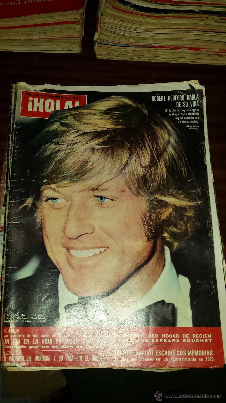Coleccionismo de Revista Hola: Lote 114 revistas HOLA años 60, 70 y 3 de principios de los 80 - Ver detalles se venden sueltas 5€ - Foto 5 - 117723528
