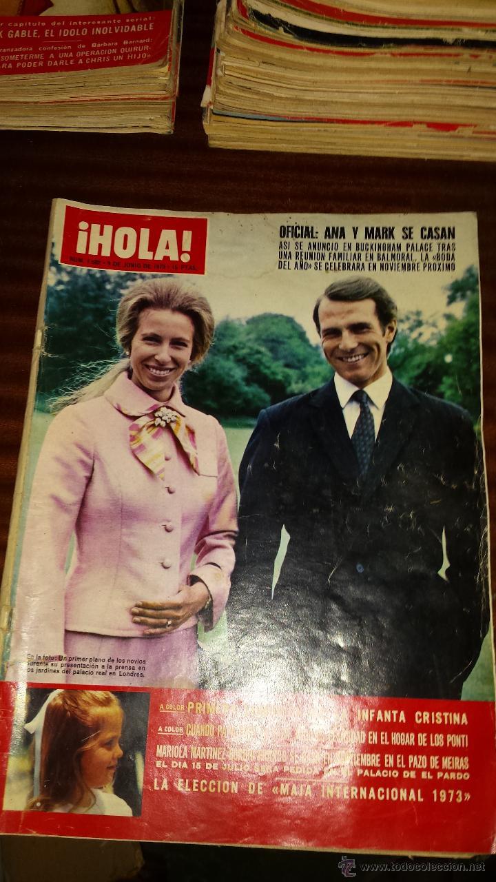 Coleccionismo de Revista Hola: Lote 114 revistas HOLA años 60, 70 y 3 de principios de los 80 - Ver detalles se venden sueltas 5€ - Foto 6 - 117723528