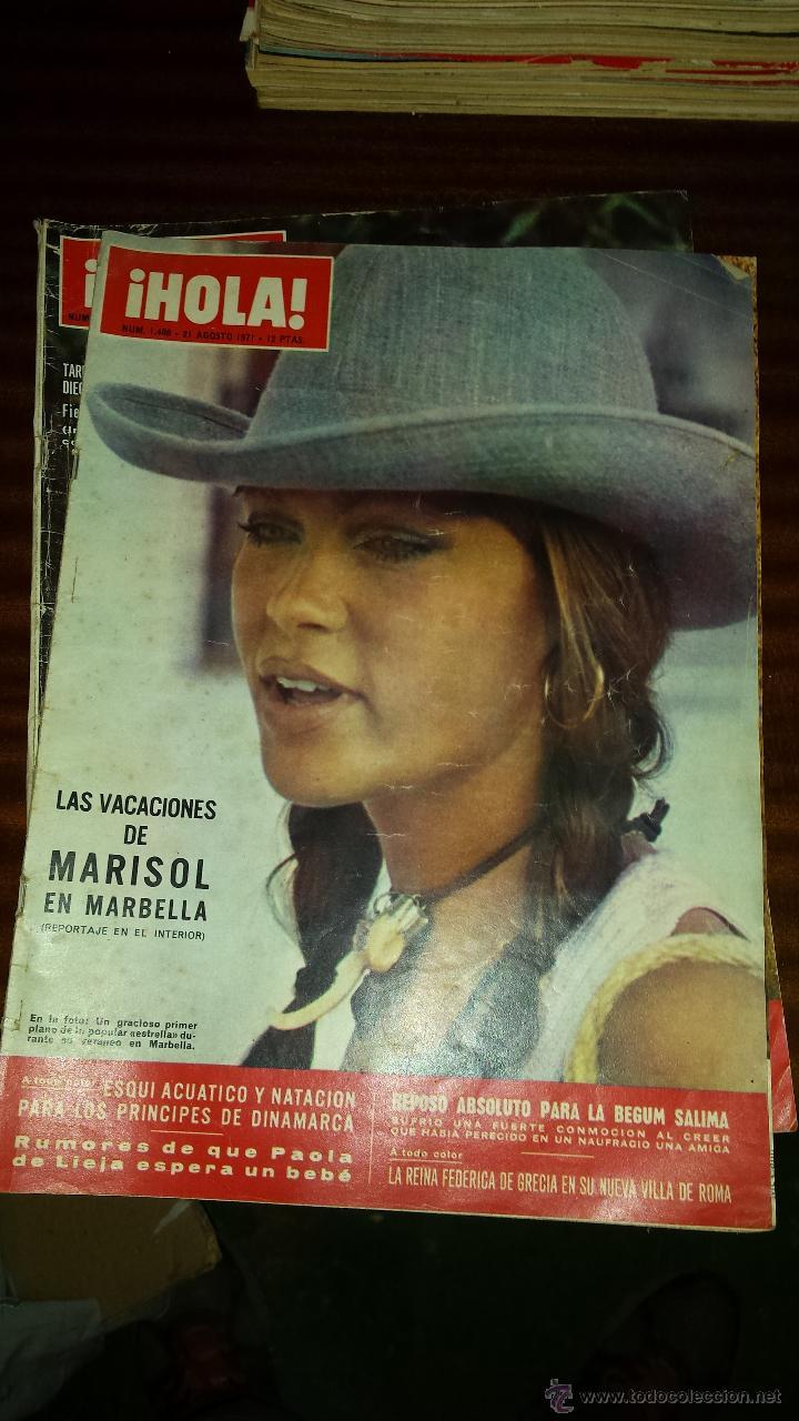 Coleccionismo de Revista Hola: Lote 114 revistas HOLA años 60, 70 y 3 de principios de los 80 - Ver detalles se venden sueltas 5€ - Foto 9 - 117723528