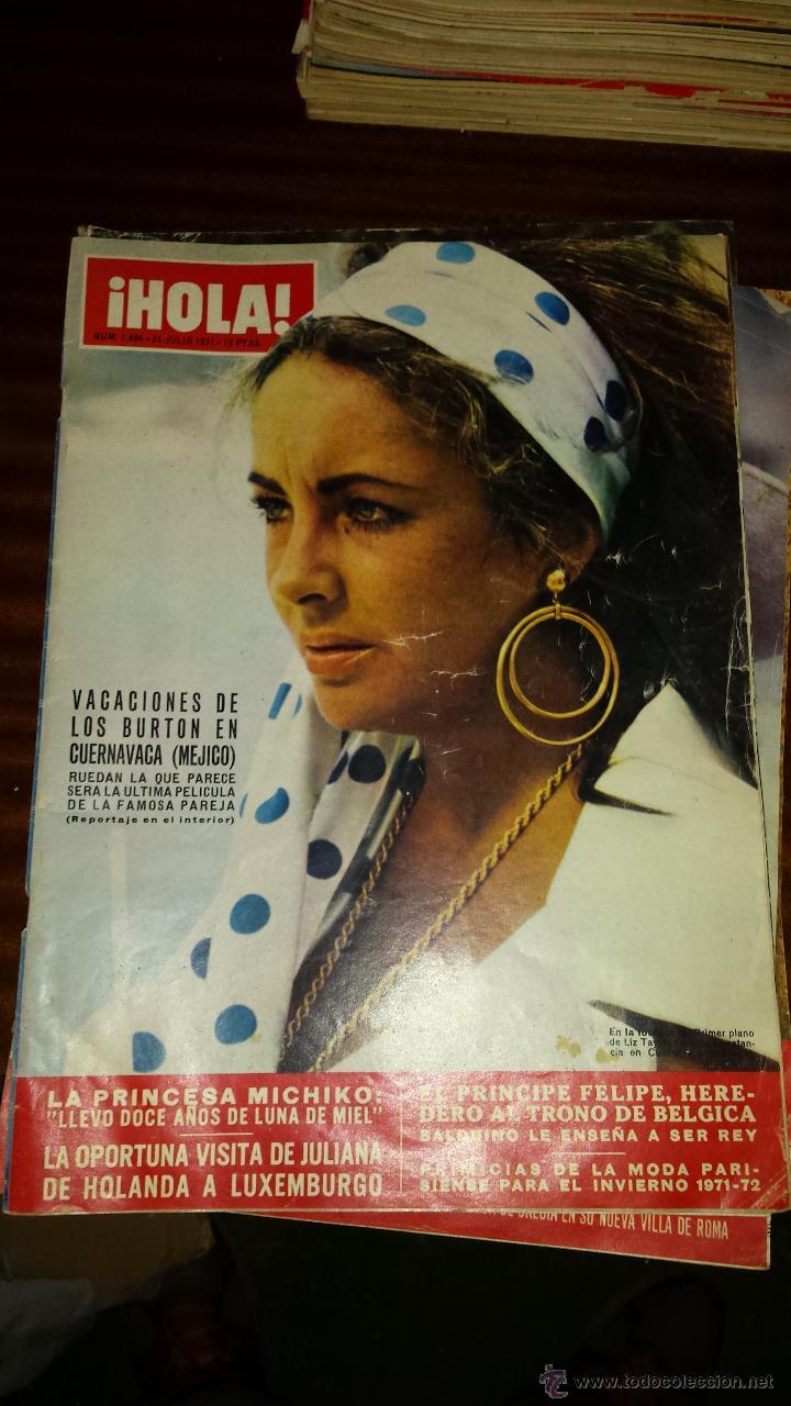 Coleccionismo de Revista Hola: Lote 114 revistas HOLA años 60, 70 y 3 de principios de los 80 - Ver detalles se venden sueltas 5€ - Foto 10 - 117723528