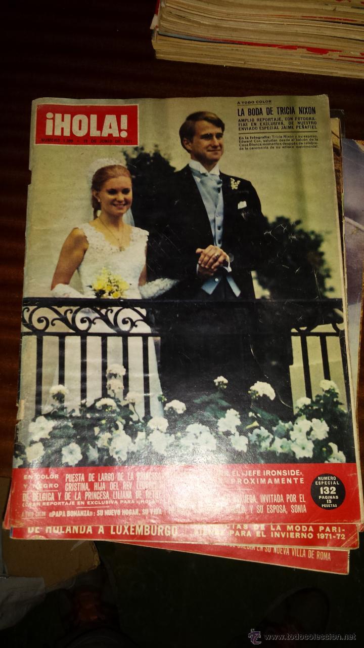 Coleccionismo de Revista Hola: Lote 114 revistas HOLA años 60, 70 y 3 de principios de los 80 - Ver detalles se venden sueltas 5€ - Foto 11 - 117723528