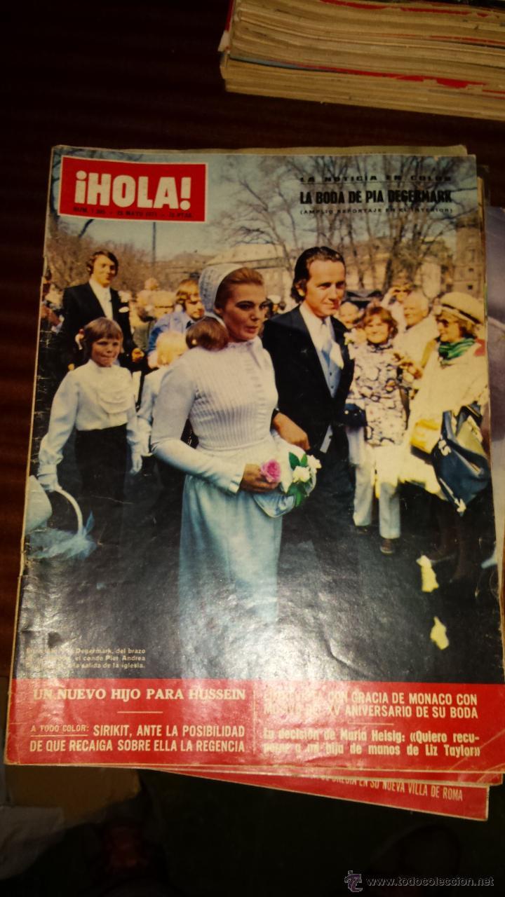 Coleccionismo de Revista Hola: Lote 114 revistas HOLA años 60, 70 y 3 de principios de los 80 - Ver detalles se venden sueltas 5€ - Foto 12 - 117723528
