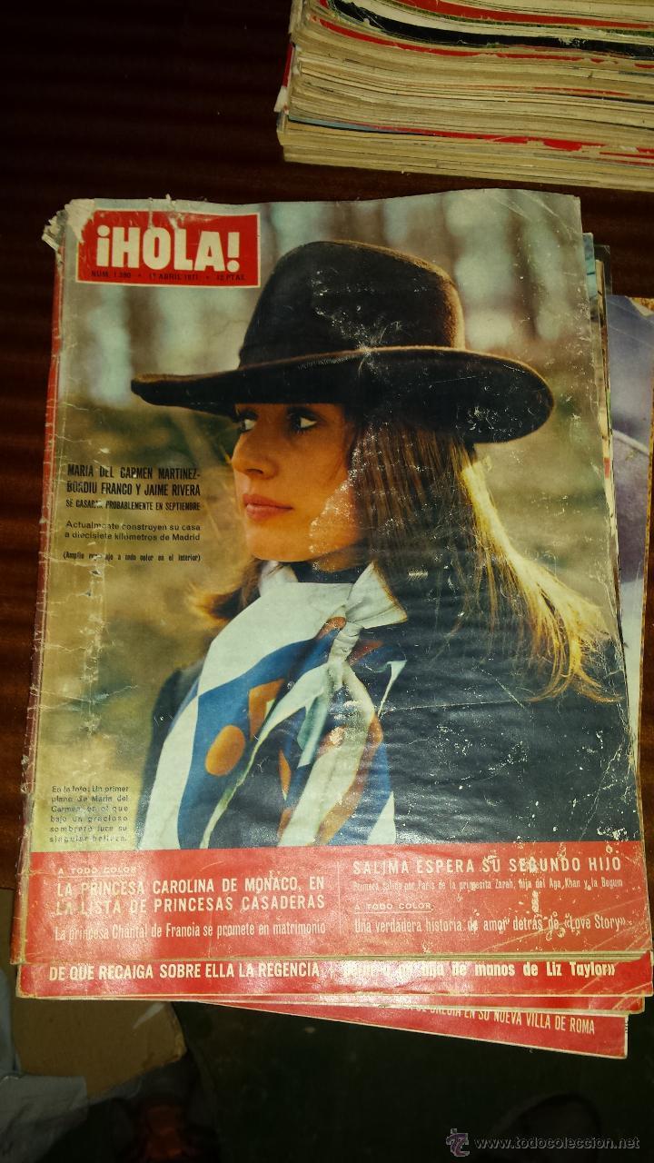 Coleccionismo de Revista Hola: Lote 114 revistas HOLA años 60, 70 y 3 de principios de los 80 - Ver detalles se venden sueltas 5€ - Foto 13 - 117723528