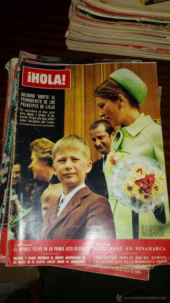 Coleccionismo de Revista Hola: Lote 114 revistas HOLA años 60, 70 y 3 de principios de los 80 - Ver detalles se venden sueltas 5€ - Foto 16 - 117723528