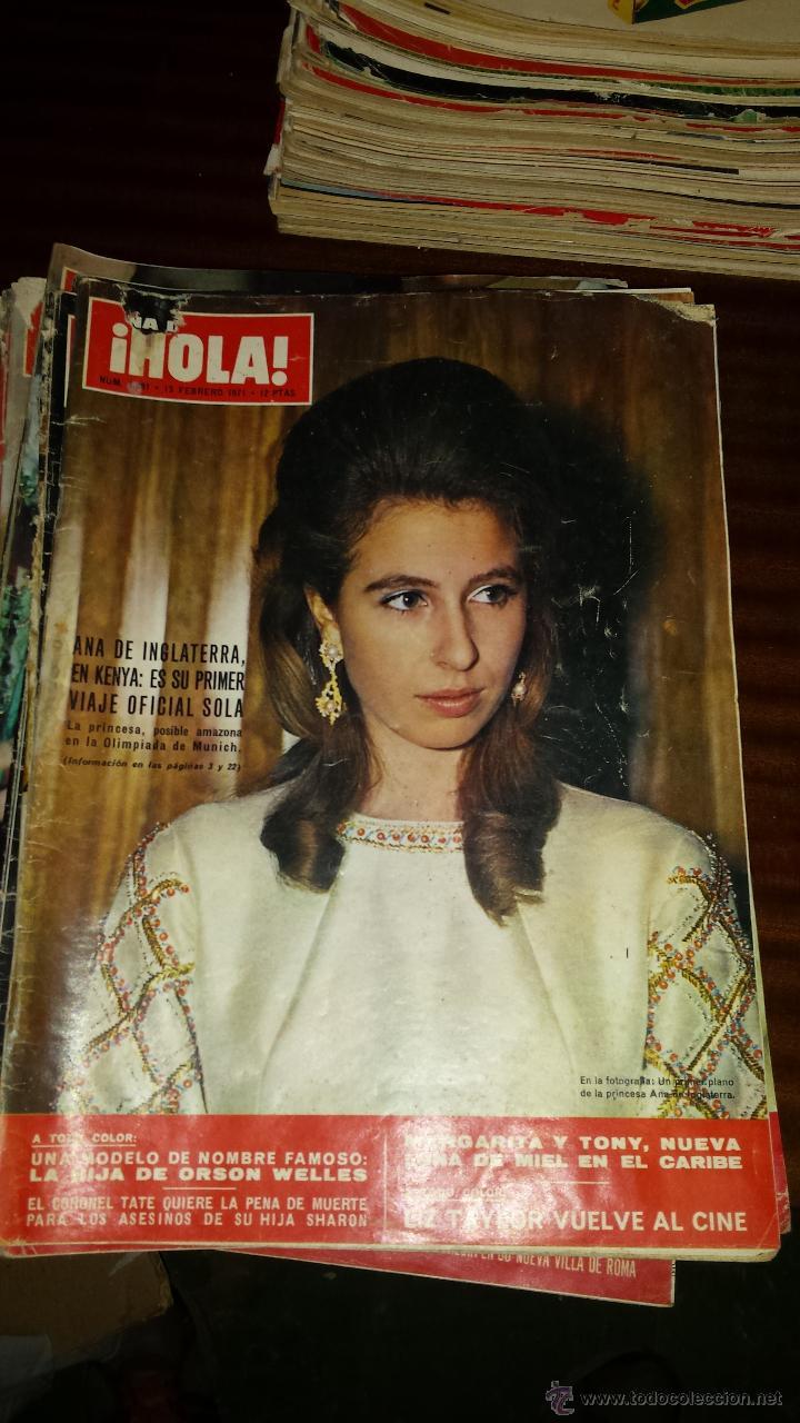 Coleccionismo de Revista Hola: Lote 114 revistas HOLA años 60, 70 y 3 de principios de los 80 - Ver detalles se venden sueltas 5€ - Foto 17 - 117723528