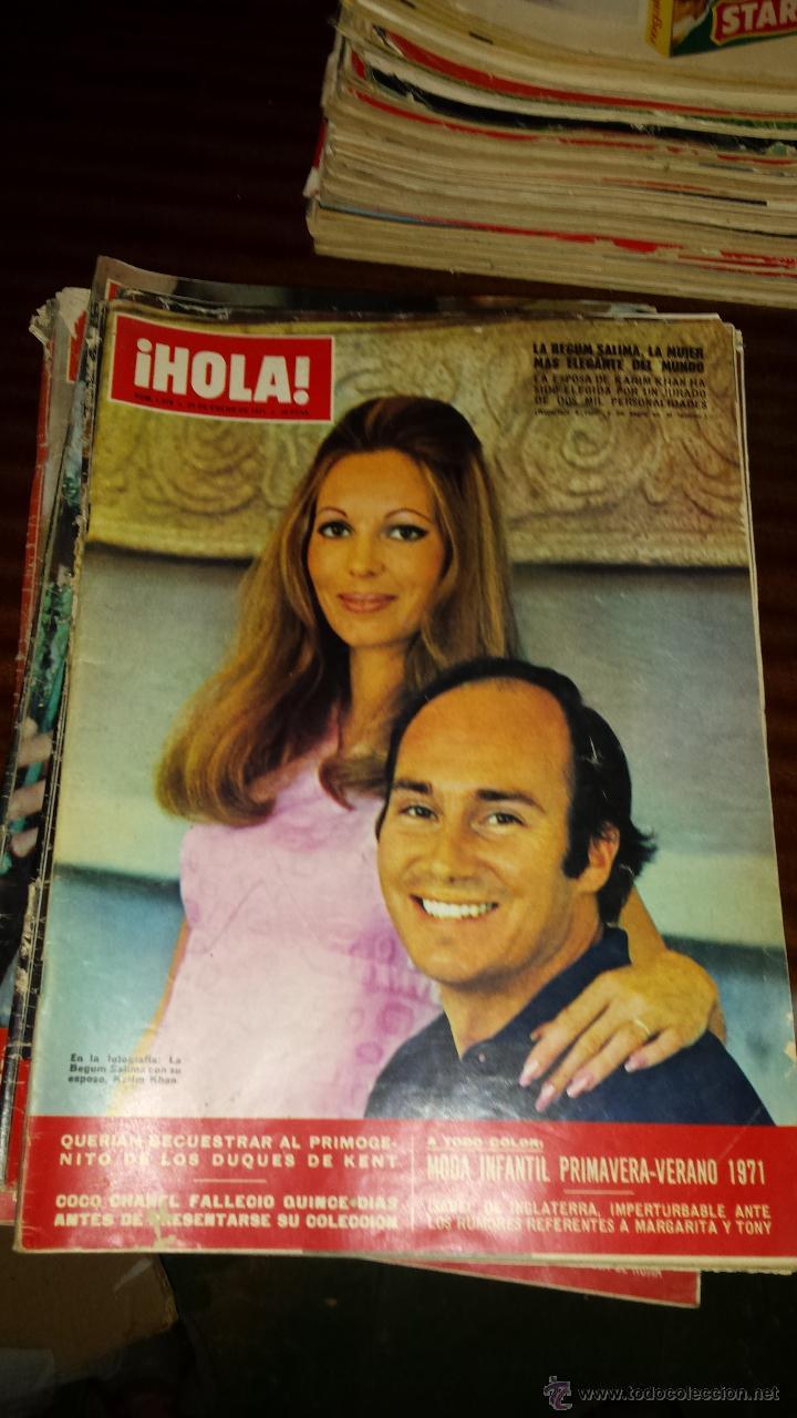 Coleccionismo de Revista Hola: Lote 114 revistas HOLA años 60, 70 y 3 de principios de los 80 - Ver detalles se venden sueltas 5€ - Foto 18 - 117723528