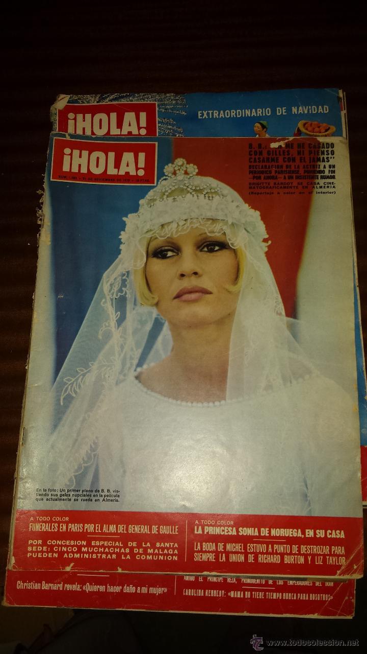 Coleccionismo de Revista Hola: Lote 114 revistas HOLA años 60, 70 y 3 de principios de los 80 - Ver detalles se venden sueltas 5€ - Foto 22 - 117723528