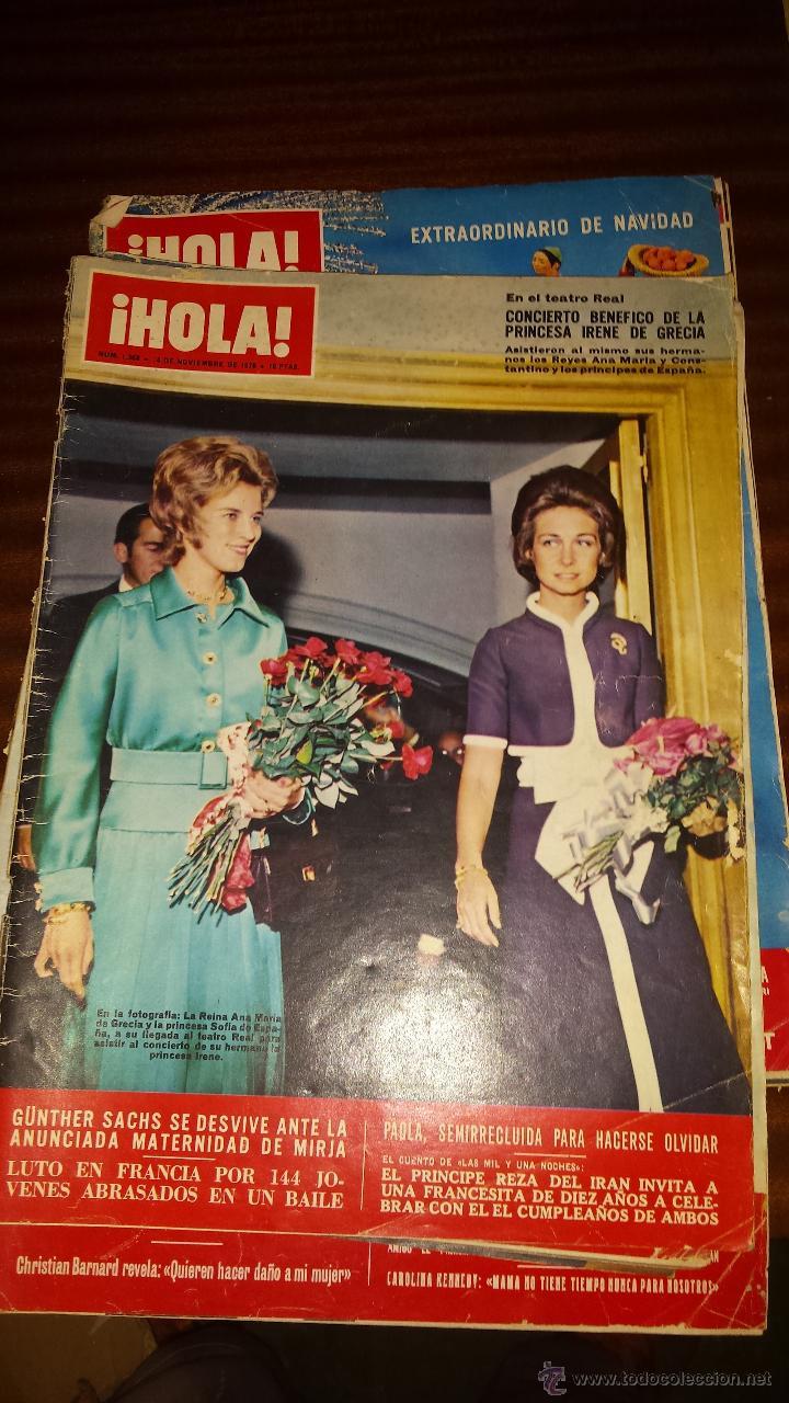 Coleccionismo de Revista Hola: Lote 114 revistas HOLA años 60, 70 y 3 de principios de los 80 - Ver detalles se venden sueltas 5€ - Foto 23 - 117723528