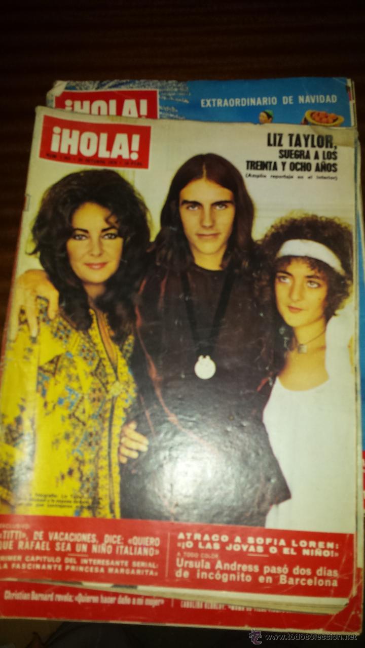 Coleccionismo de Revista Hola: Lote 114 revistas HOLA años 60, 70 y 3 de principios de los 80 - Ver detalles se venden sueltas 5€ - Foto 24 - 117723528