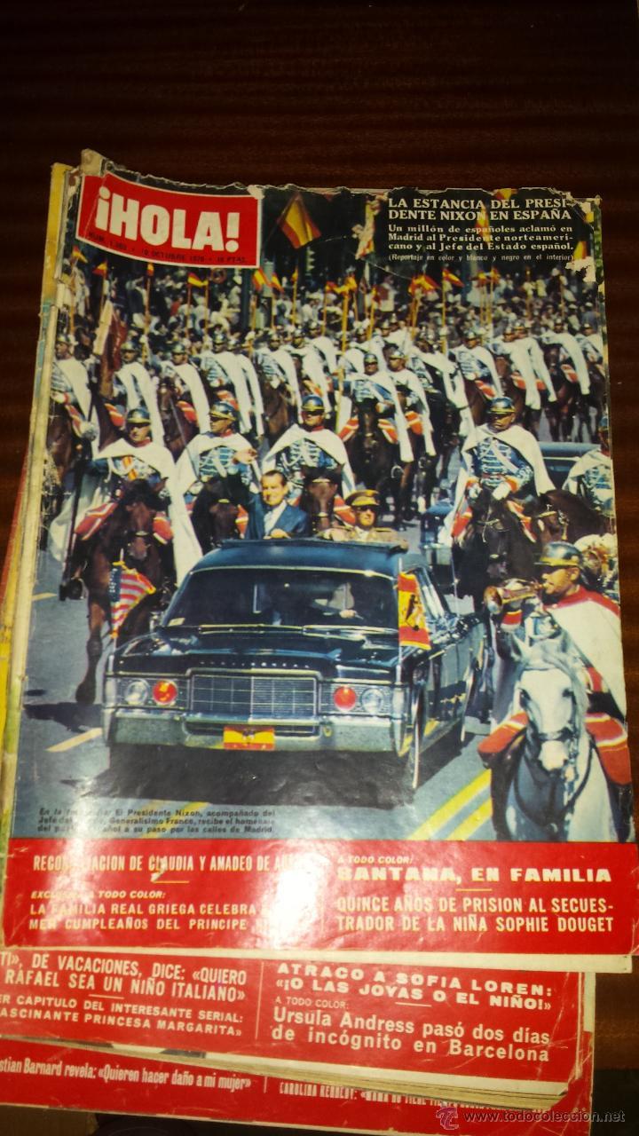 Coleccionismo de Revista Hola: Lote 114 revistas HOLA años 60, 70 y 3 de principios de los 80 - Ver detalles se venden sueltas 5€ - Foto 26 - 117723528