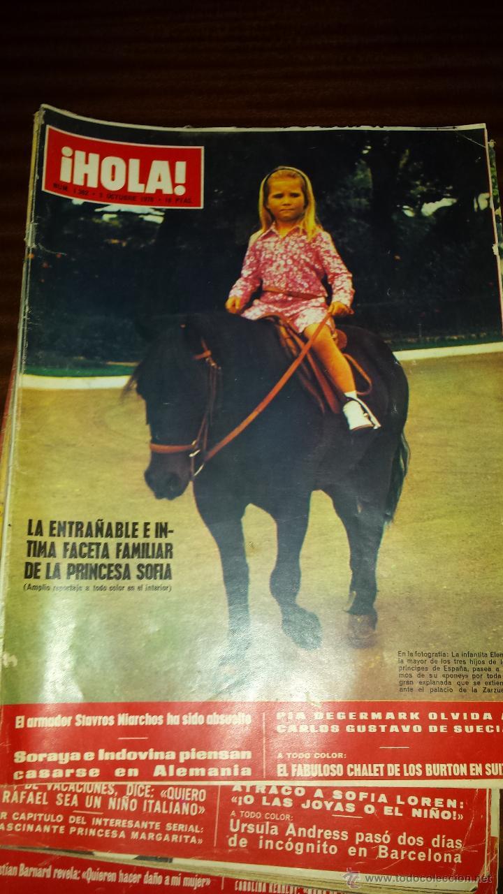 Coleccionismo de Revista Hola: Lote 114 revistas HOLA años 60, 70 y 3 de principios de los 80 - Ver detalles se venden sueltas 5€ - Foto 27 - 117723528