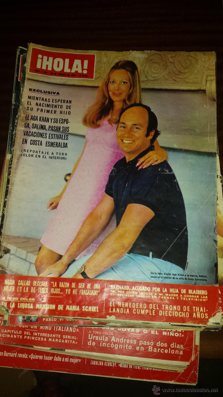 Coleccionismo de Revista Hola: Lote 114 revistas HOLA años 60, 70 y 3 de principios de los 80 - Ver detalles se venden sueltas 5€ - Foto 29 - 117723528