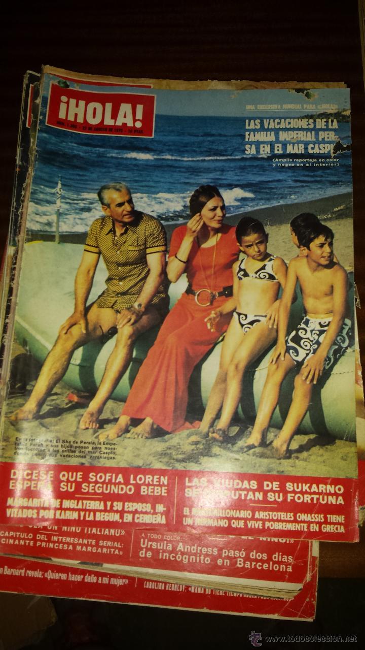 Coleccionismo de Revista Hola: Lote 114 revistas HOLA años 60, 70 y 3 de principios de los 80 - Ver detalles se venden sueltas 5€ - Foto 30 - 117723528