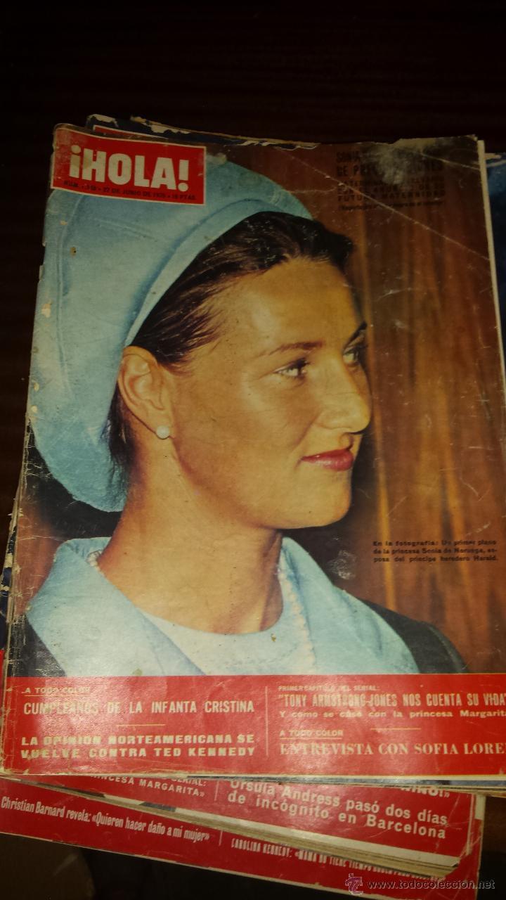 Coleccionismo de Revista Hola: Lote 114 revistas HOLA años 60, 70 y 3 de principios de los 80 - Ver detalles se venden sueltas 5€ - Foto 33 - 117723528