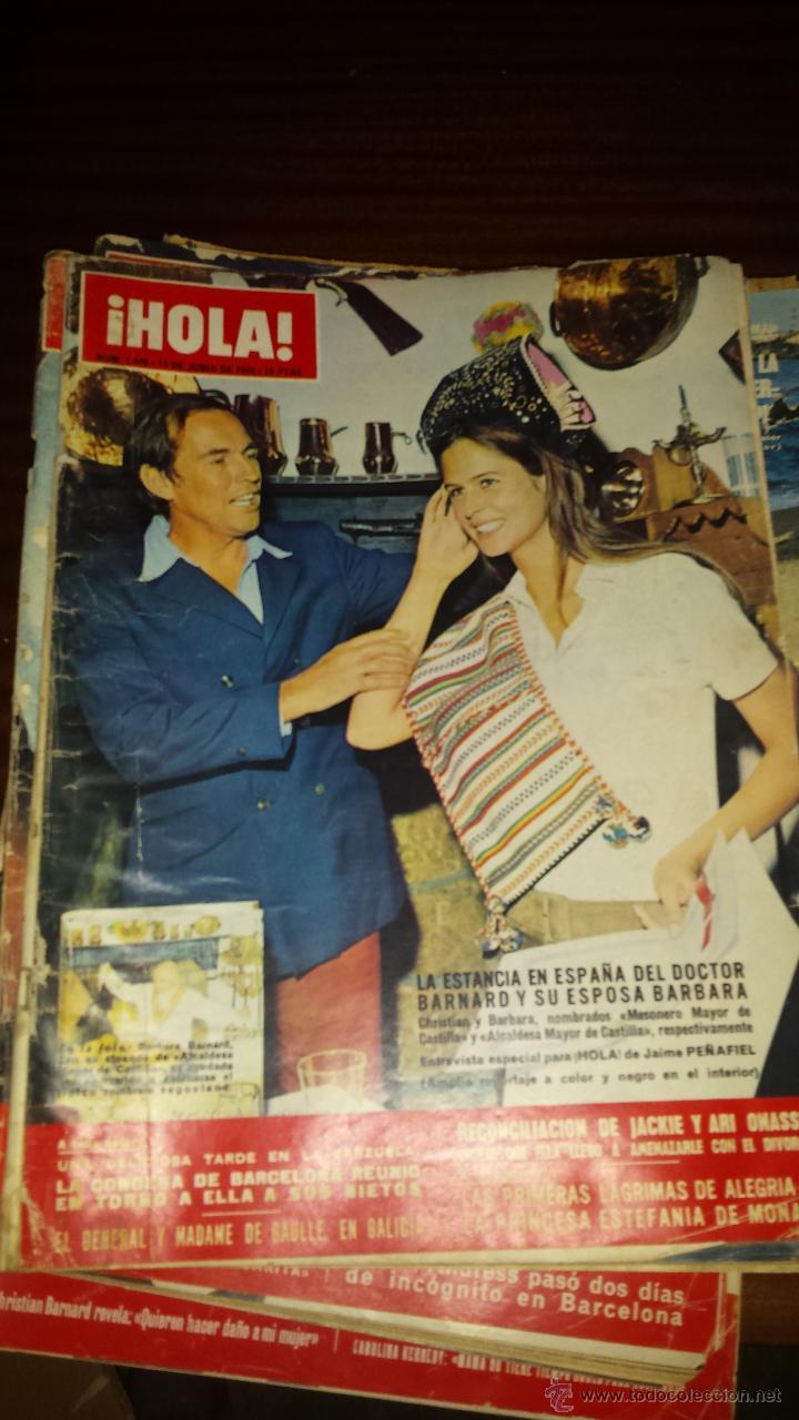 Coleccionismo de Revista Hola: Lote 114 revistas HOLA años 60, 70 y 3 de principios de los 80 - Ver detalles se venden sueltas 5€ - Foto 34 - 117723528