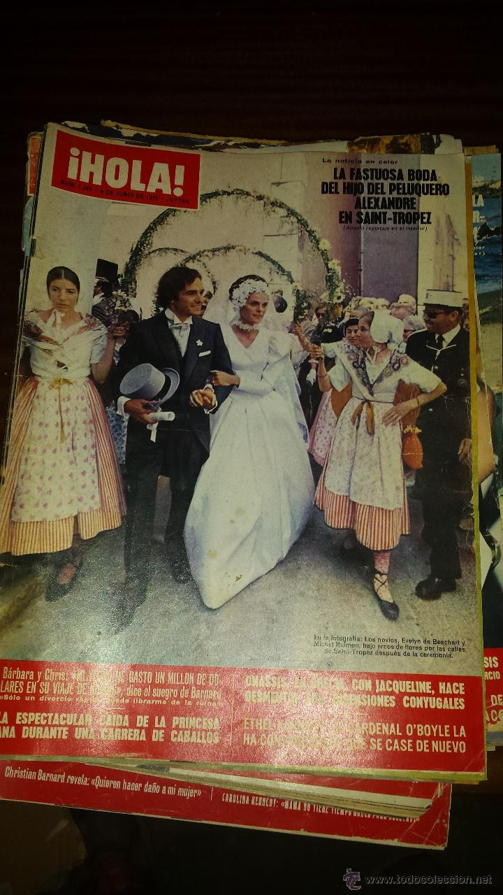 Coleccionismo de Revista Hola: Lote 114 revistas HOLA años 60, 70 y 3 de principios de los 80 - Ver detalles se venden sueltas 5€ - Foto 35 - 117723528