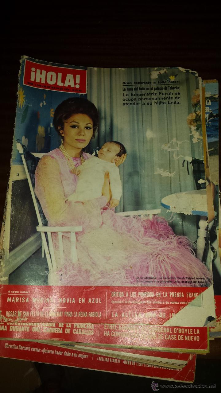 Coleccionismo de Revista Hola: Lote 114 revistas HOLA años 60, 70 y 3 de principios de los 80 - Ver detalles se venden sueltas 5€ - Foto 36 - 117723528