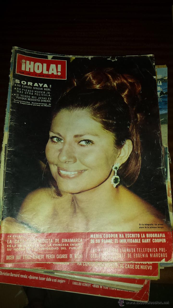 Coleccionismo de Revista Hola: Lote 114 revistas HOLA años 60, 70 y 3 de principios de los 80 - Ver detalles se venden sueltas 5€ - Foto 37 - 117723528