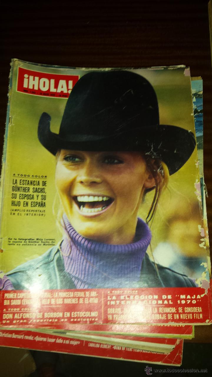 Coleccionismo de Revista Hola: Lote 114 revistas HOLA años 60, 70 y 3 de principios de los 80 - Ver detalles se venden sueltas 5€ - Foto 38 - 117723528