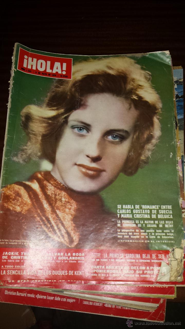 Coleccionismo de Revista Hola: Lote 114 revistas HOLA años 60, 70 y 3 de principios de los 80 - Ver detalles se venden sueltas 5€ - Foto 39 - 117723528
