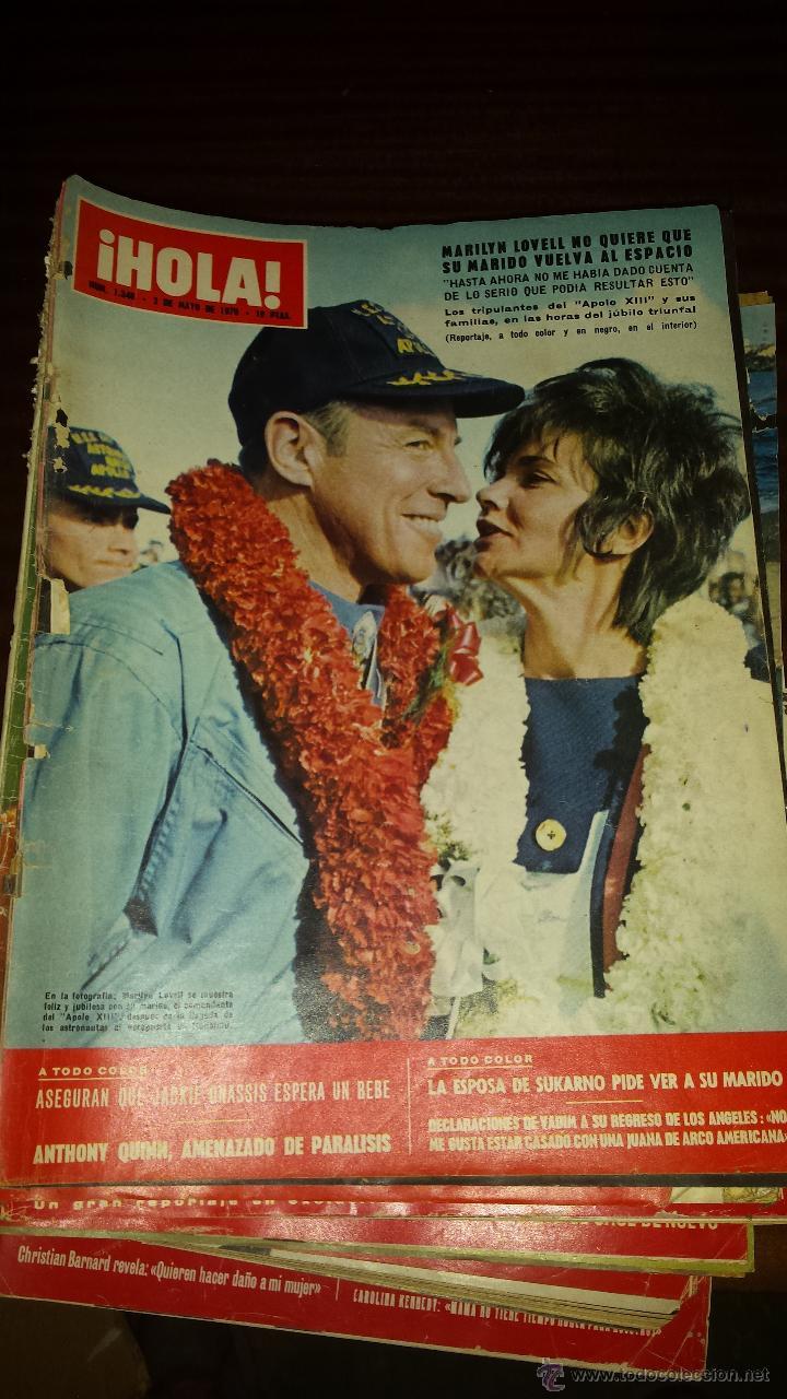 Coleccionismo de Revista Hola: Lote 114 revistas HOLA años 60, 70 y 3 de principios de los 80 - Ver detalles se venden sueltas 5€ - Foto 40 - 117723528
