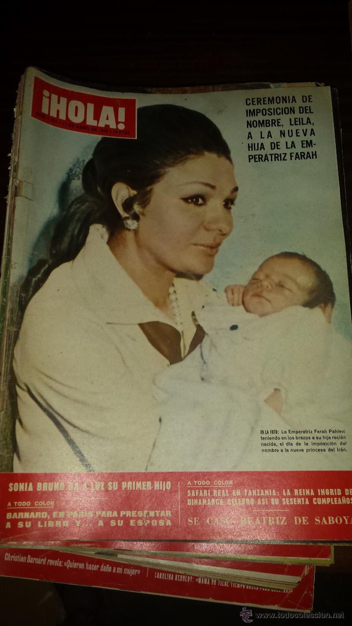 Coleccionismo de Revista Hola: Lote 114 revistas HOLA años 60, 70 y 3 de principios de los 80 - Ver detalles se venden sueltas 5€ - Foto 42 - 117723528