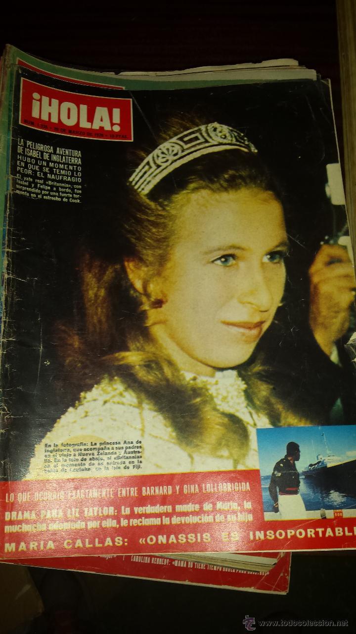 Coleccionismo de Revista Hola: Lote 114 revistas HOLA años 60, 70 y 3 de principios de los 80 - Ver detalles se venden sueltas 5€ - Foto 44 - 117723528