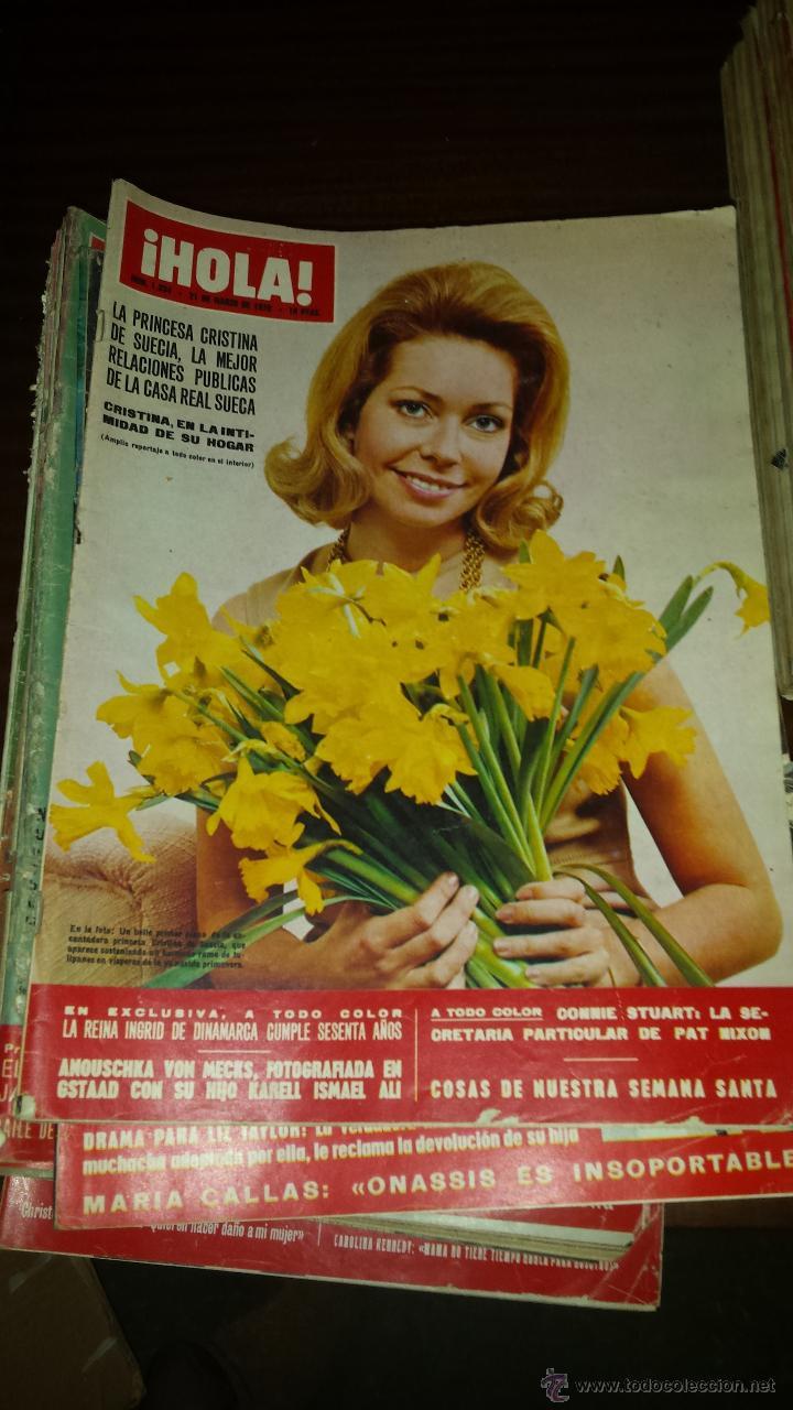 Coleccionismo de Revista Hola: Lote 114 revistas HOLA años 60, 70 y 3 de principios de los 80 - Ver detalles se venden sueltas 5€ - Foto 45 - 117723528