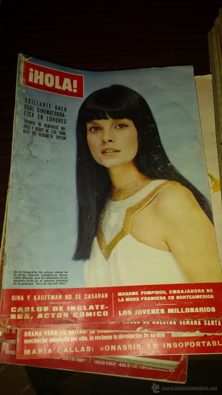 Coleccionismo de Revista Hola: Lote 114 revistas HOLA años 60, 70 y 3 de principios de los 80 - Ver detalles se venden sueltas 5€ - Foto 46 - 117723528