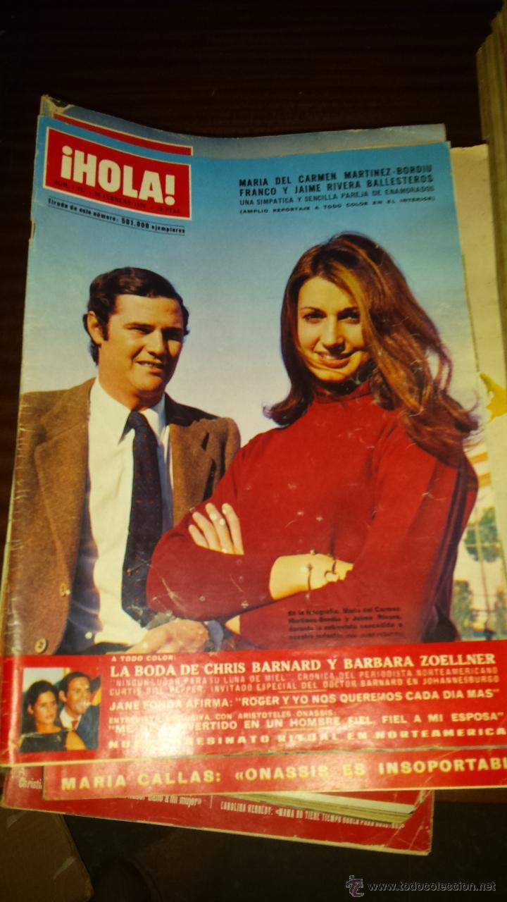 Coleccionismo de Revista Hola: Lote 114 revistas HOLA años 60, 70 y 3 de principios de los 80 - Ver detalles se venden sueltas 5€ - Foto 47 - 117723528