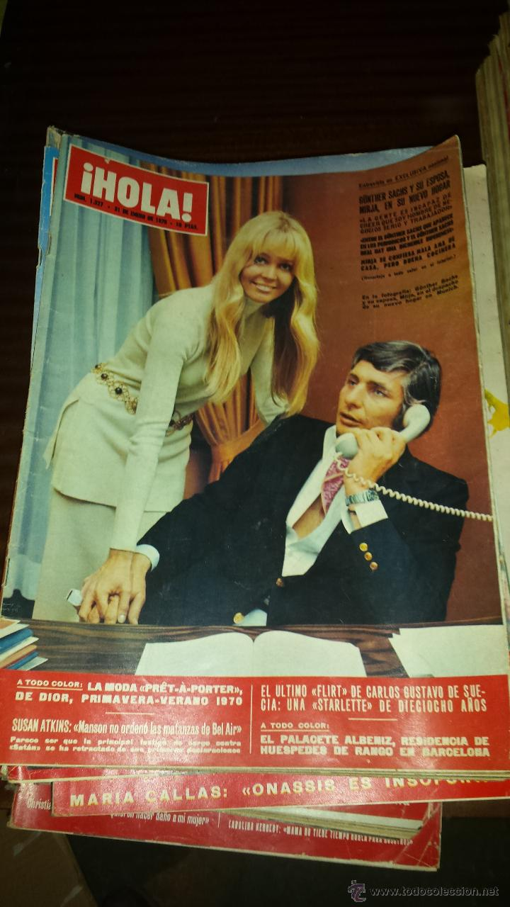 Coleccionismo de Revista Hola: Lote 114 revistas HOLA años 60, 70 y 3 de principios de los 80 - Ver detalles se venden sueltas 5€ - Foto 48 - 117723528
