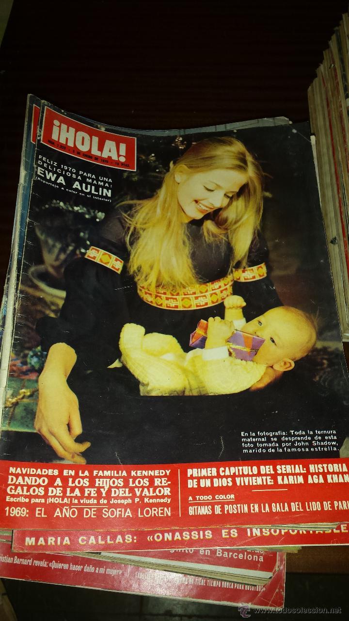Coleccionismo de Revista Hola: Lote 114 revistas HOLA años 60, 70 y 3 de principios de los 80 - Ver detalles se venden sueltas 5€ - Foto 51 - 117723528