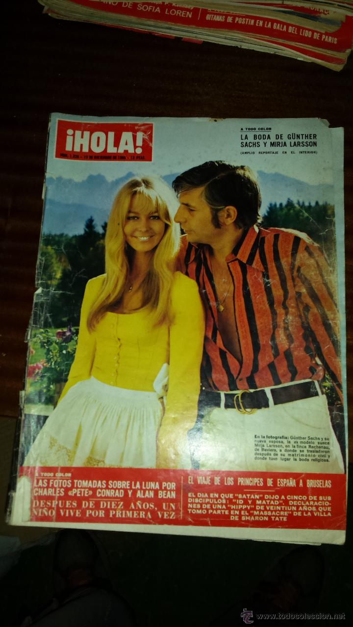 Coleccionismo de Revista Hola: Lote 114 revistas HOLA años 60, 70 y 3 de principios de los 80 - Ver detalles se venden sueltas 5€ - Foto 52 - 117723528