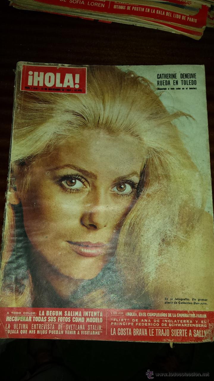 Coleccionismo de Revista Hola: Lote 114 revistas HOLA años 60, 70 y 3 de principios de los 80 - Ver detalles se venden sueltas 5€ - Foto 55 - 117723528