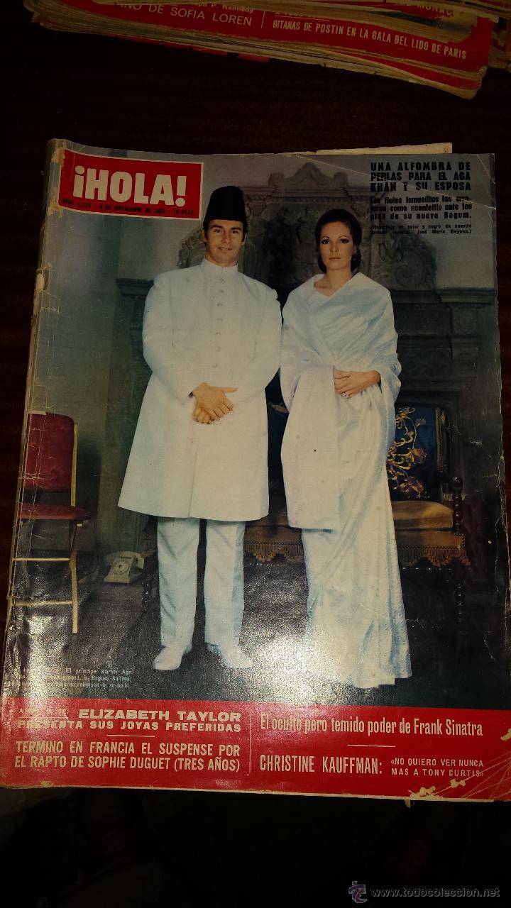 Coleccionismo de Revista Hola: Lote 114 revistas HOLA años 60, 70 y 3 de principios de los 80 - Ver detalles se venden sueltas 5€ - Foto 56 - 117723528