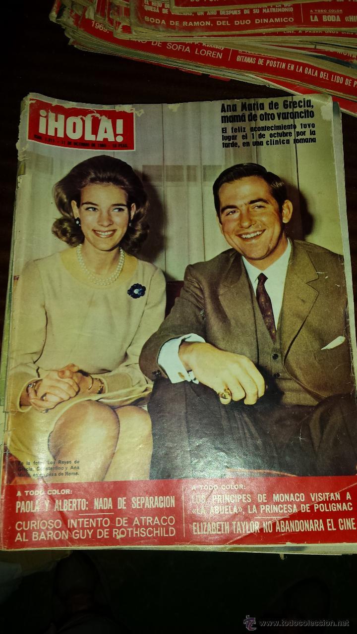 Coleccionismo de Revista Hola: Lote 114 revistas HOLA años 60, 70 y 3 de principios de los 80 - Ver detalles se venden sueltas 5€ - Foto 59 - 117723528