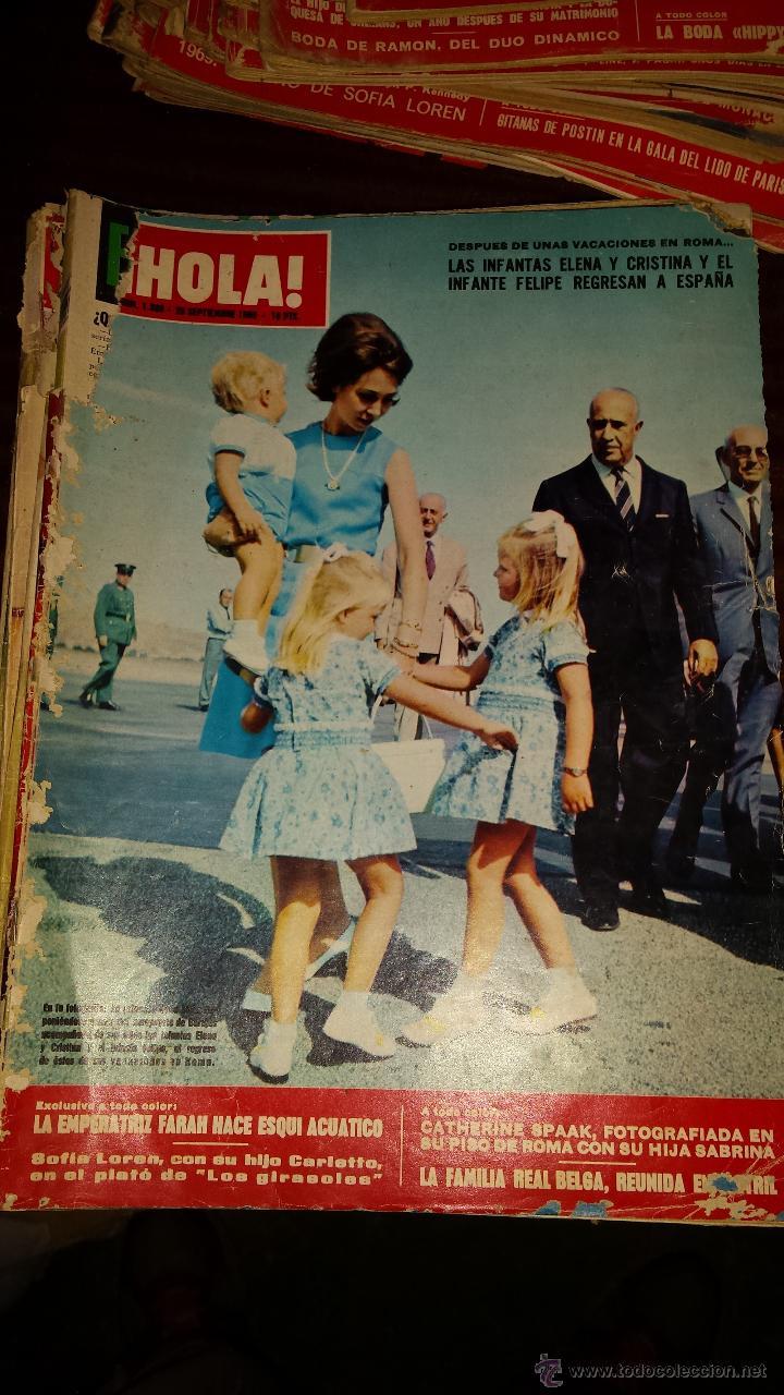 Coleccionismo de Revista Hola: Lote 114 revistas HOLA años 60, 70 y 3 de principios de los 80 - Ver detalles se venden sueltas 5€ - Foto 61 - 117723528