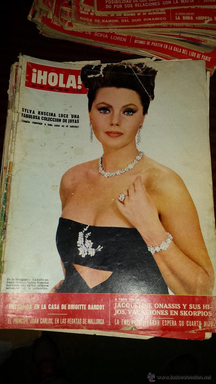 Coleccionismo de Revista Hola: Lote 114 revistas HOLA años 60, 70 y 3 de principios de los 80 - Ver detalles se venden sueltas 5€ - Foto 63 - 117723528