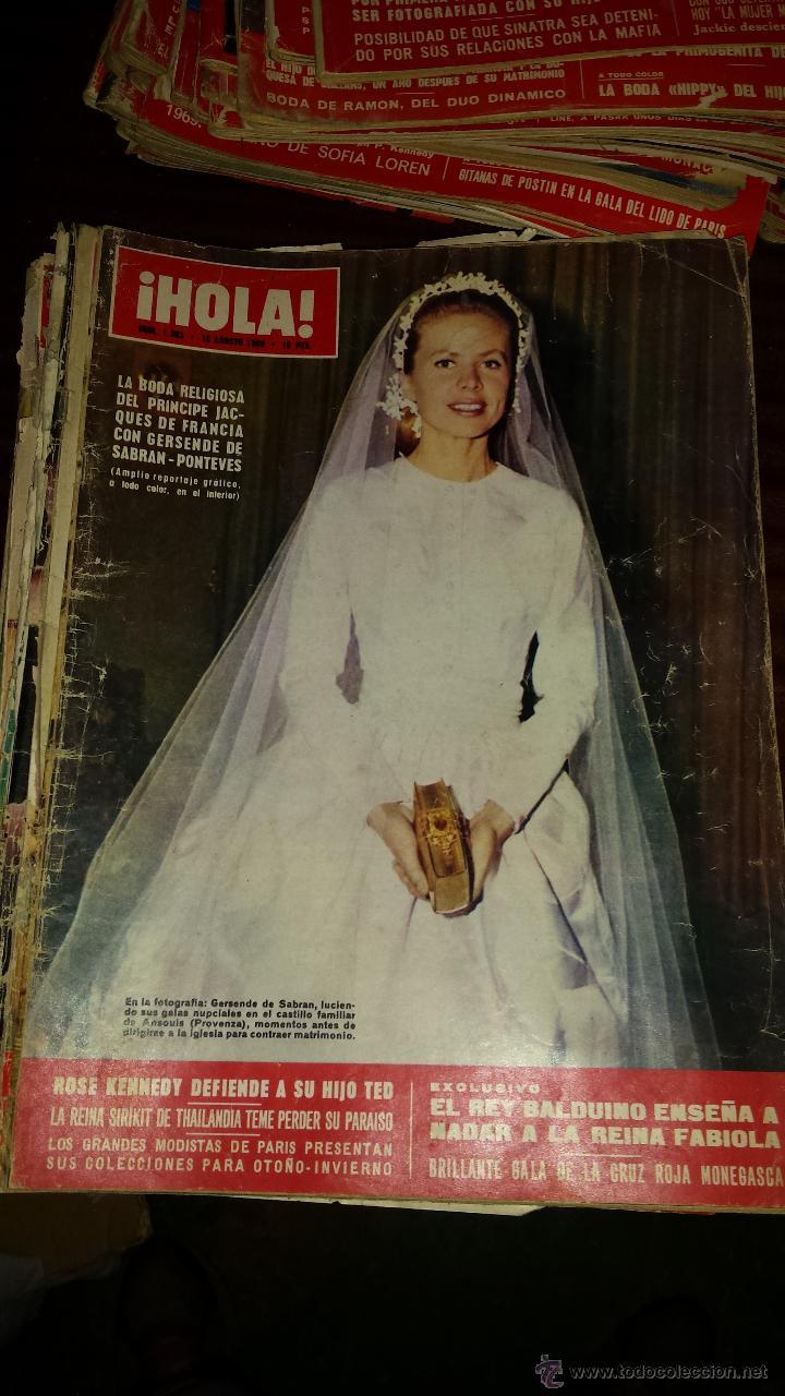 Coleccionismo de Revista Hola: Lote 114 revistas HOLA años 60, 70 y 3 de principios de los 80 - Ver detalles se venden sueltas 5€ - Foto 65 - 117723528
